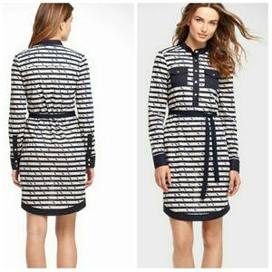 Tory Burch Suzette Nautical Design Navy Dress S